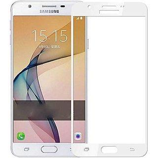 Samsung galalxy J7 max tempered glass  white full glass