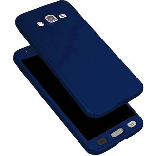 360 Degree Full Body Protection Front  Back Case Cover (iPaky Style) with Tempered Glass for Samsung On5/On5 pro (Blue)