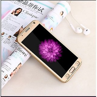 BRAND FUSON 360 Degree Full Body Protection Front Back Case Cover (iPaky Style) with Tempered Glass for Samsung ON5 - GOLD