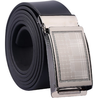Fashno Black Adjustable Leatherite Belt (Length-48 inch)(Size-Free Size)