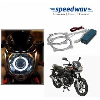 Speedwav Bike Halo CCFL Tube Angel Eyes Light WHITE-Bajaj