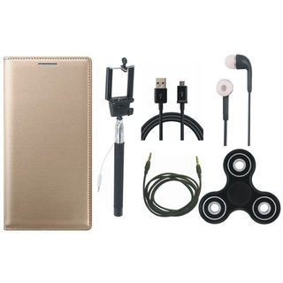 Motorola Moto G5s Cover with Spinner, Selfie Stick, Earphones, USB Cable and AUX Cable