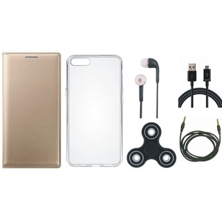 Motorola Moto G5s Cover with Spinner, Silicon Back Cover, Earphones, USB Cable and AUX Cable