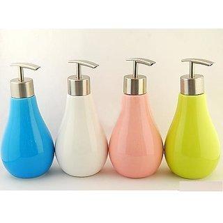 Skywalk High Grade Ceramic Liquid Soap Dispenser in Bulb Shape - Multicolor