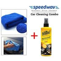 Speedwav Car Cleaning Kit Formula Dashboard Protectant Fragrance + Cloth