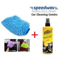 Speedwav Car Cleaning Kit Formula Dashboard Protectant Fragrance + Glove