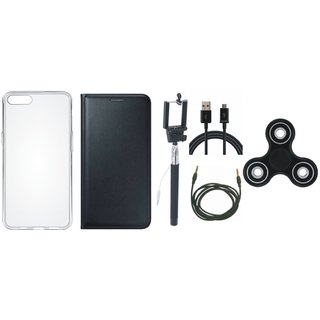 J7 Pro Cover with Spinner, Silicon Back Cover, Selfie Stick, USB Cable and AUX Cable