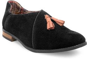Adreno Men's Black Slip On Loafers