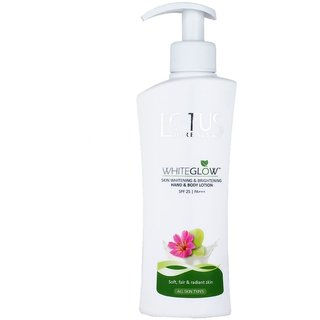 Lotus Herbals White Glow Skin Whitening And Brightening Hand and Body Lotion SPF-25