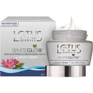 Lotus Herbals White Glow Skin Whitening and Brightening Nourishing Night Crme