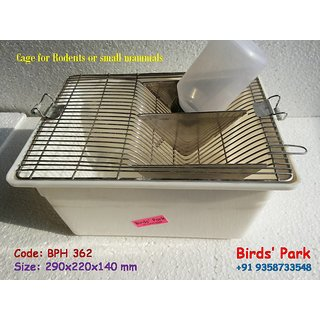 Lab Animal cage for RAT MICE (Polycarbonat Breeding Cages) - Good for Hamster Albino Rat  Mice BPH362