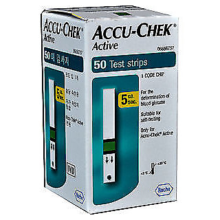 Accu-Chek Active 50 Test Strips Expiry JUNE 2019