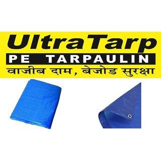 UltraTarp PE Tarpaulin (24 ft x 30 ft) - 120 GSM Blue 100 Pure Virgin UV Treated