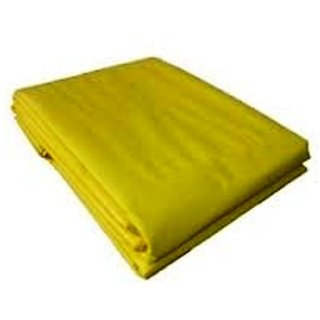 UltraTarp PE Tarpaulin (30 ft x 30 ft) - 150 GSM Yellow 100 Pure Virgin UV Treated