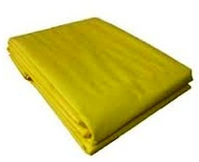 UltraTarp PE Tarpaulin (30 ft x 30 ft) - 200 GSM Yellow 100 Pure Virgin UV Treated