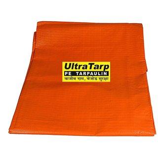 UltraTarp PE Tarpaulin (06 ft x 09 ft) - 180 GSM Orange 100 Pure Virgin UV Treated