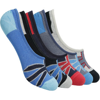 Supersox Mens Anti Slip No Show Socks - Pack of 5