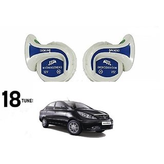 Autonity Mocc 18 in 1 Digital Tones Car Magic Horn Set Of 2 For Tata Manza