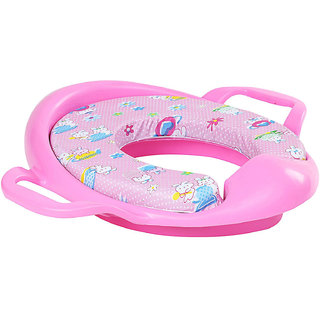 Cushioned Potty Training Seat With Handles For Baby - Pink