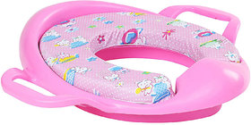 Cushioned Baby Toilet Training Potty Seat With Handles Pink
