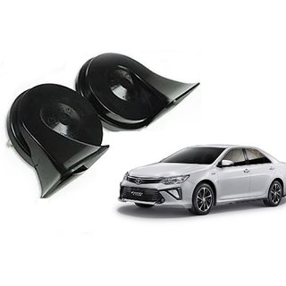 Minda Dual Tone Black Trumpet Horn 12V Skoda Type High & Low For Toyota Camry Type 2 By Autonity