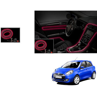 Autonity Car Interior Ambient Wire Decorative LED Light Red For Renault Pulse