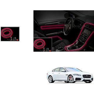 Autonity Car Interior Ambient Wire Decorative LED Light Red For Jaguar XF