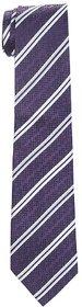 Speak Natural Silk Hand-Made Stripes Purple Tie SPK3015HT