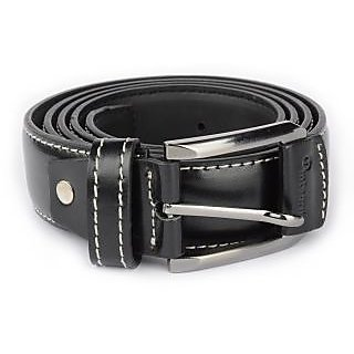men's black Leather Belt