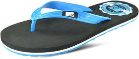 MTV Skat  Black and aqua  Men's Flip Flops Thong Sandals