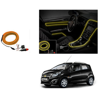 Buy Autonity Car Interior Ambient Wire Decorative Led Light Yellow
