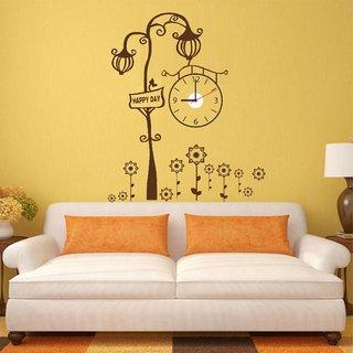 Ascent Royal Lamp Wall Clock Sticker For Living Room (35 cm x 17 cm x 5 cm)