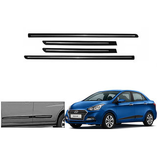 Autonity  Side Beading Chrome Plated Black For Hyundai Xcent Type 2