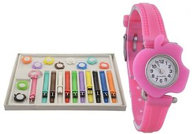 New Multicolour Watch With 11 Multicolour Strep With Di