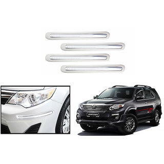 Autonity Car Bumper Safety Guard Protector White For Toyota Fortuner Type 1