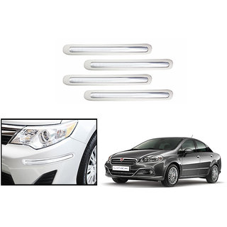 Autonity Car Bumper Safety Guard Protector White For Fiat Linea