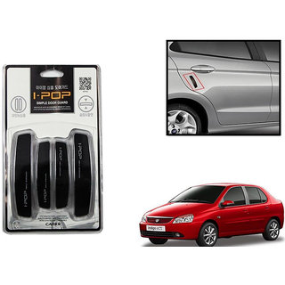 Autonity i-pop Simple Black Car Door Scratch Guard Protector ipop For Tata Indigo