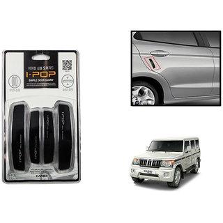 Autonity i-pop Simple Black Car Door Scratch Guard Protector ipop For Mahindra Bolero New Type 2