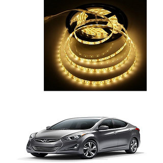 Autonity 5 Meters Waterproof Cuttable LED Lights Strip Yellow For Hyundai Elantra