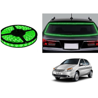 Autonity 5 Meters Waterproof Cuttable LED Lights Strip Green For Tata Indica