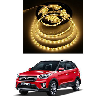 Autonity 5 Meters Waterproof Cuttable LED Lights Strip Yellow For Hyundai Creta
