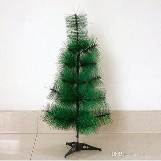 UNIQUE- 2 FEET PINE CHRISTMAS TREE - PREMIUM QUALITY - PLASTIC STAND- FREE DECORATION