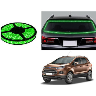 Autonity 5 Meters Waterproof Cuttable LED Lights Strip Green For Ford EcoSport