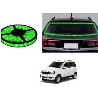 Autonity 5 Meters Waterproof Cuttable LED Lights Strip Green For Mahindra Quanto