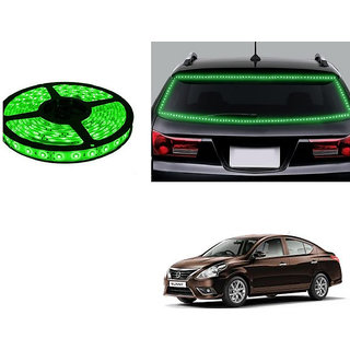 Autonity 5 Meters Waterproof Cuttable LED Lights Strip Green For Nissan Sunny
