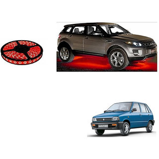 Autonity Car Underbody 5 Meters Cuttable RED LED Roll For Maruti 800