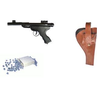 Prijam Air Gun Btpm-007 Metal Body 300 Pellets  Cover  Air Gun Combo Offer