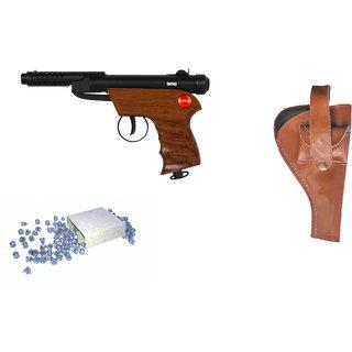 Prijam Air Gun Bsw2-007 Metal Body 300 Pellets  Cover  Air Gun Combo Offer