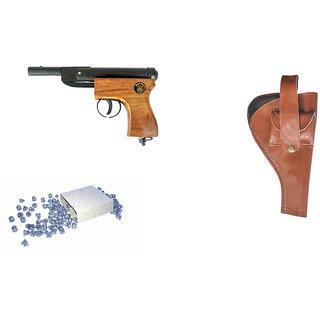 Prijam Air Gun Baby Wooden  Body 300 Pellets Cover  Air Gun Combo Offer