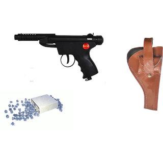 Prijam Air Gun Bsm2-007 Metal Body 300 Pellets Cover  Air Gun Combo Offer
